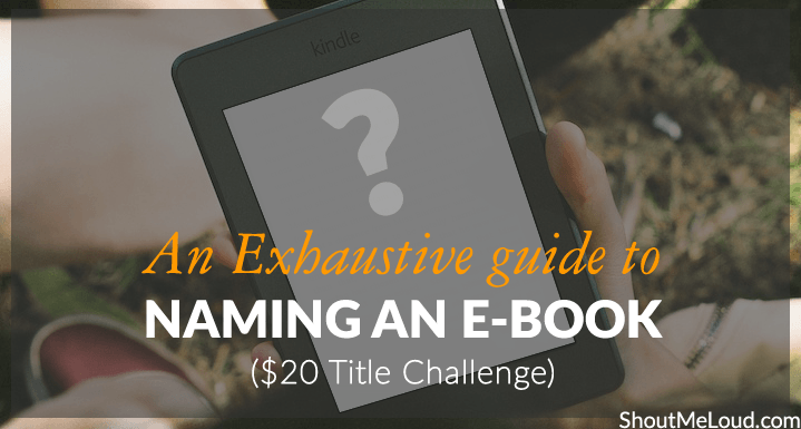 Guide for Naming an E-book