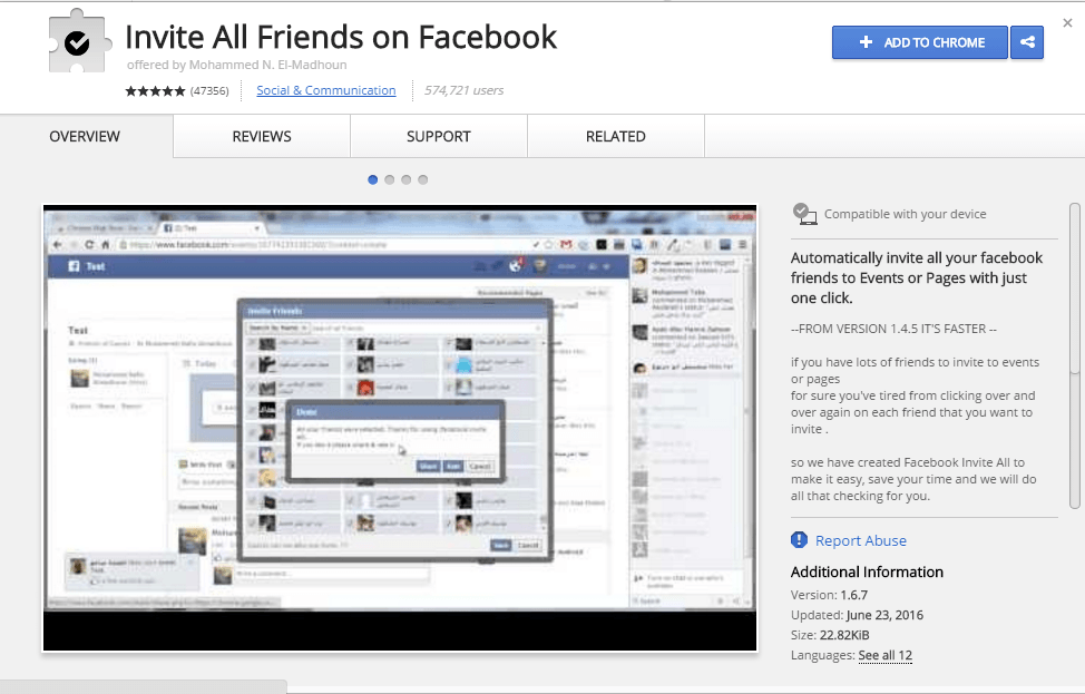 How To Invite All Friends on Facebook in Single click?