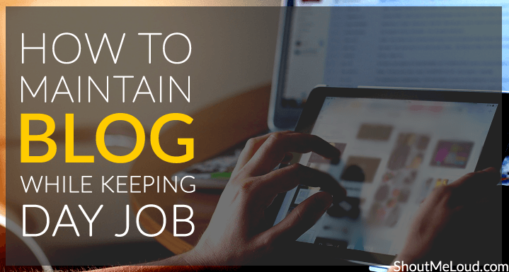 Maintain Blog while job