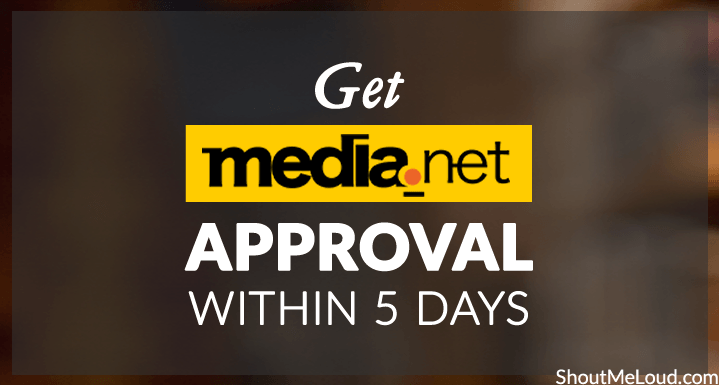Media Net Approval Process