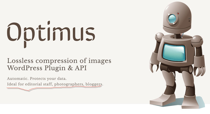 Optimus WordPress image compression