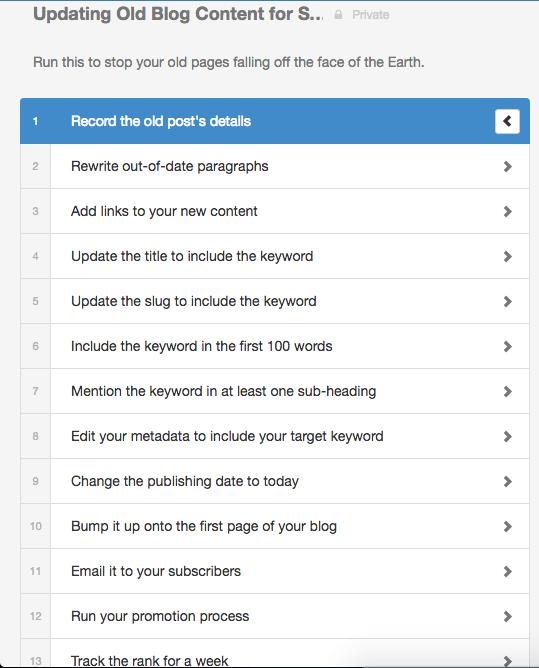 Process-street-checklist