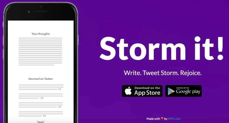 Storm it Twitter app