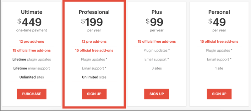 AffiliateWP pricing