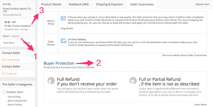 Aliexpress - Rating, Guarantee and Open