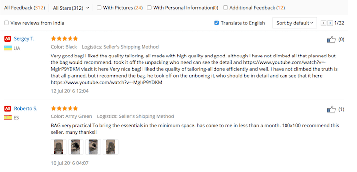 Aliexpress - Reviews