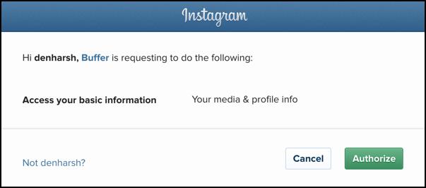 Auto schedule Instagram updates