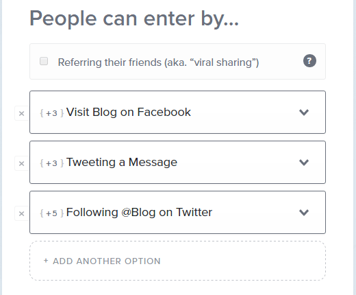 How to enter into Giveaways