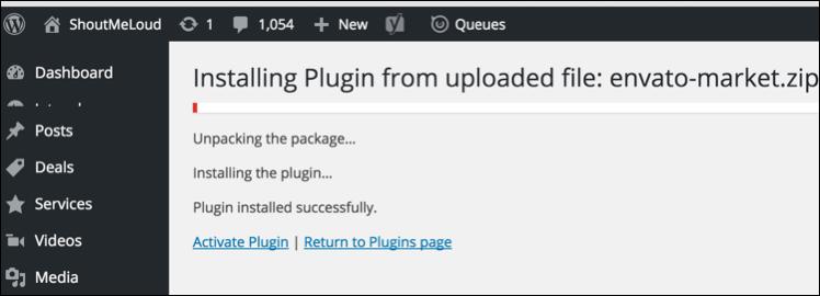 Install Envato Market WordPress Plugin