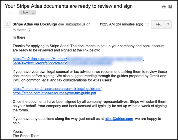 Stripe Atlas Document For Signing