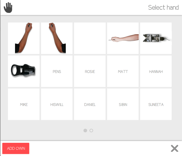 Video Scribe Hand Options