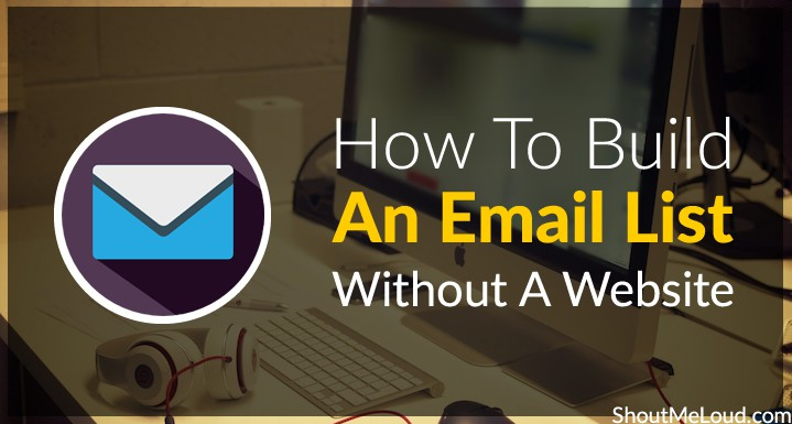 Build An Email List Without Website