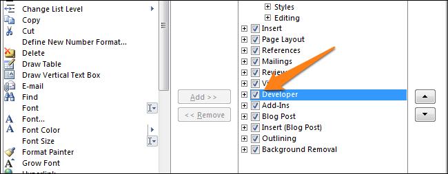 Developer box