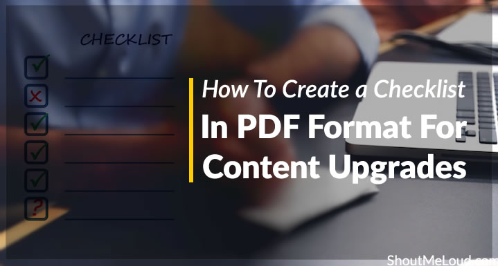 Checklist for Content Upgrades in PDF