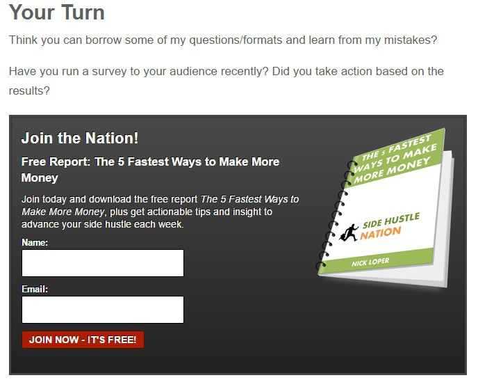 State of the Nation 2016 Member Survey Results Plus How to Run a Survey For Your Audience Side Hustle Nation