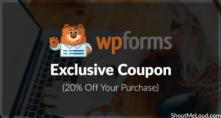 WPForms Exclusive Coupon