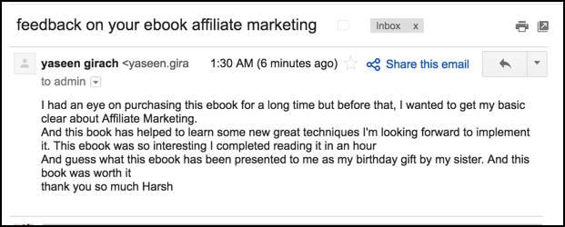 eBook testimonial