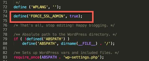 force ssl admin