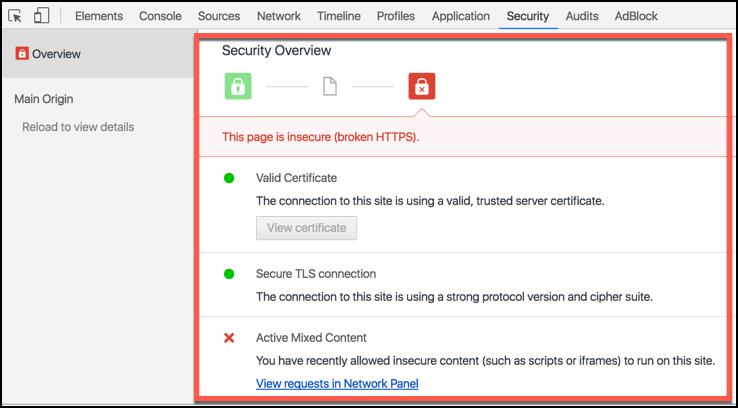 Insecure broken https
