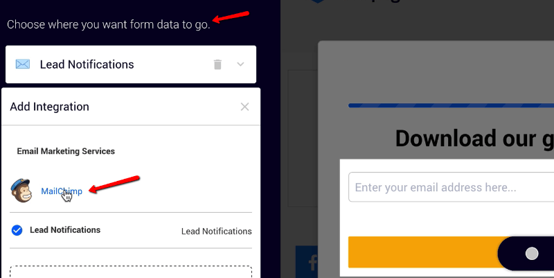Automatically send all form data