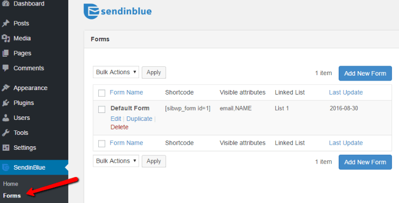 Sendinblue Creating an Email Signup Form