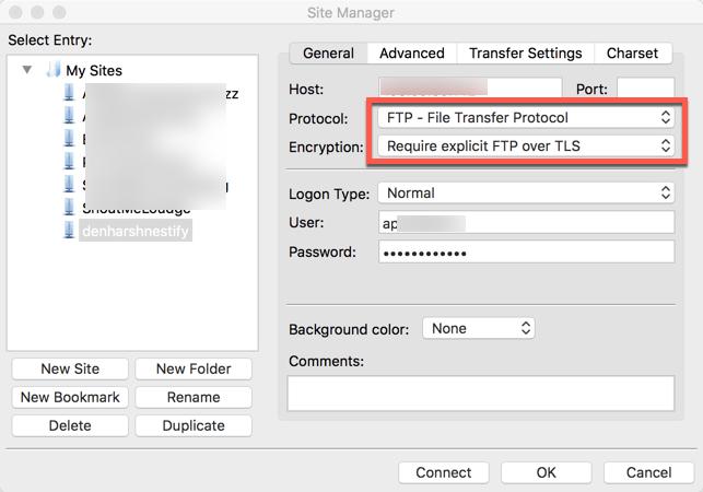 using FTPS with FileZilla