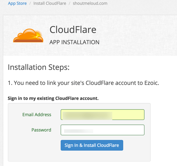 Cloudflare Ezoic integration