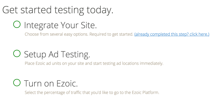 Ezoic guide WordPress