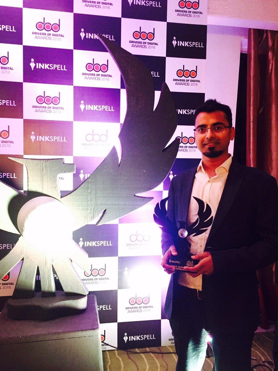 harsh-agrawal-shoutmeloud-award
