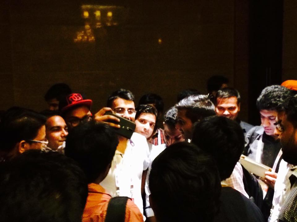 With Shouters after the event
