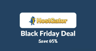 Save 65% on HostGator Hosting with Black Friday 2017 Sale