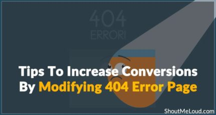 7 Tips To Increase Conversions By Modifying 404 Error Page
