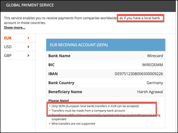 local-bank-account-payoneer