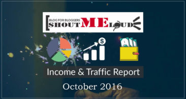 ShoutMeLoud October 2016 Income & Transparency Report: $34,339.48