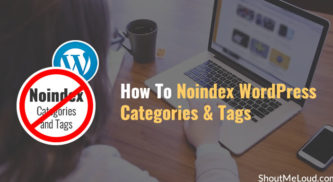 How To Noindex WordPress Categories and Tags