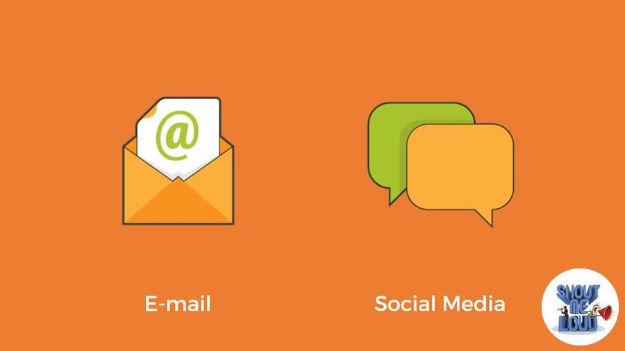 social media or e-mail