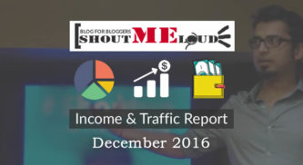 ShoutMeLoud's December 2016 Income Report: $34,390