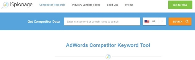 AdWords Competitor Keyword Research Tool
