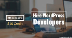 $10 Credit for Codeable: Hire WordPress Developers