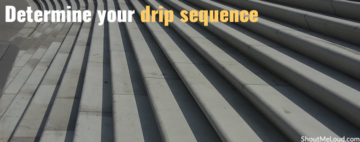 Determine your drip sequence