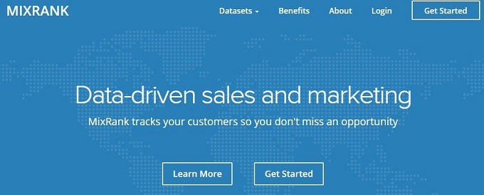 MixRank Data driven sales and marketing