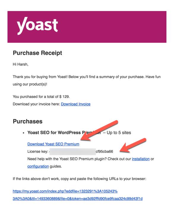 license key yoast seo premium