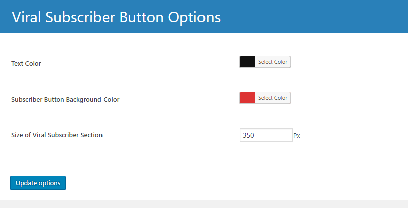 Viral Subscriber Color Options