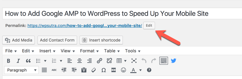 How To Change Post URL of Already Published Post Without
