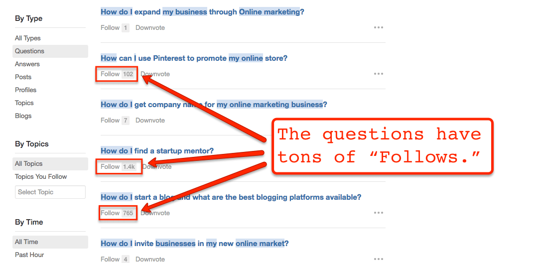 Quora.com's traffic