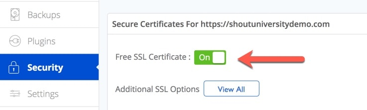 This means the free SSL certificate has been installed on the domain & now we can migrate our site from HTTP to HTTPS.