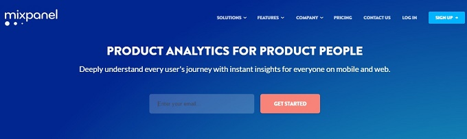 Mixpanel Product analytics