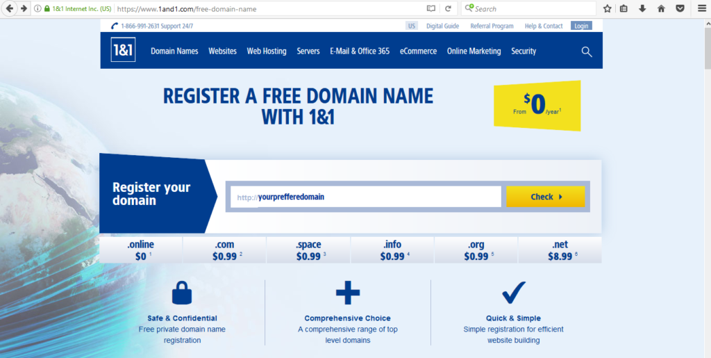 How To Buy A .com Domain With A Free Custom Email And SSL Certificate For $0.99