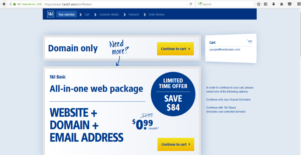 how to buy a  domain with a free custom email and ssl