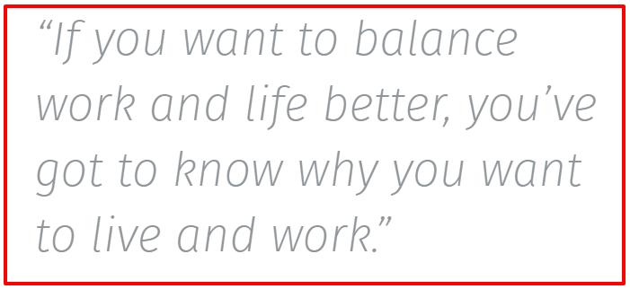 a Better Work Life Balance